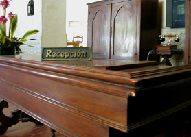 Hotel El Comendador havana reception
